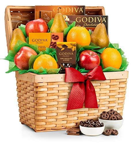 GiftTree Fresh Fruit and Godiva Congratulations Gift Basket
