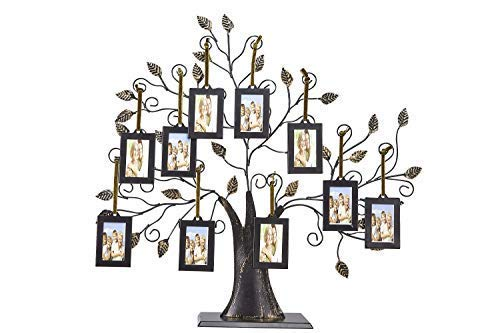 Klikel Family Tree Picture Frame Display with 10 Hanging