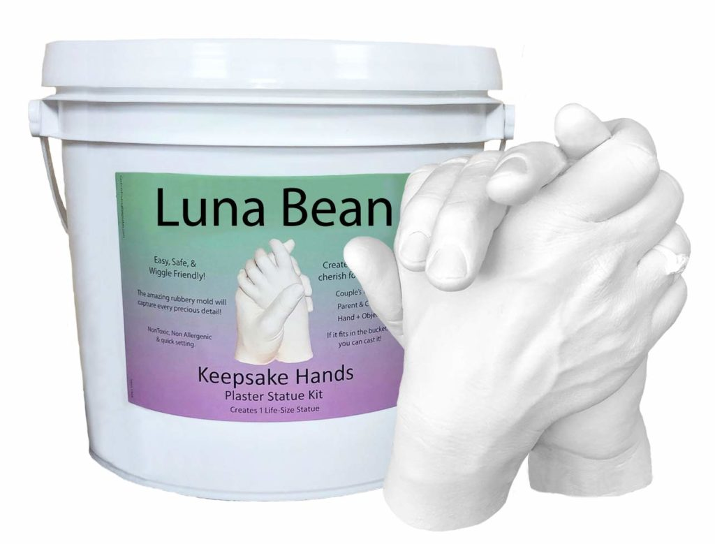 Luna Bean LARGE Keepsake Hands Casting Kit