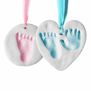Bubzi Co Baby Footprint Kit & Handprint Ornament for Baby Girl