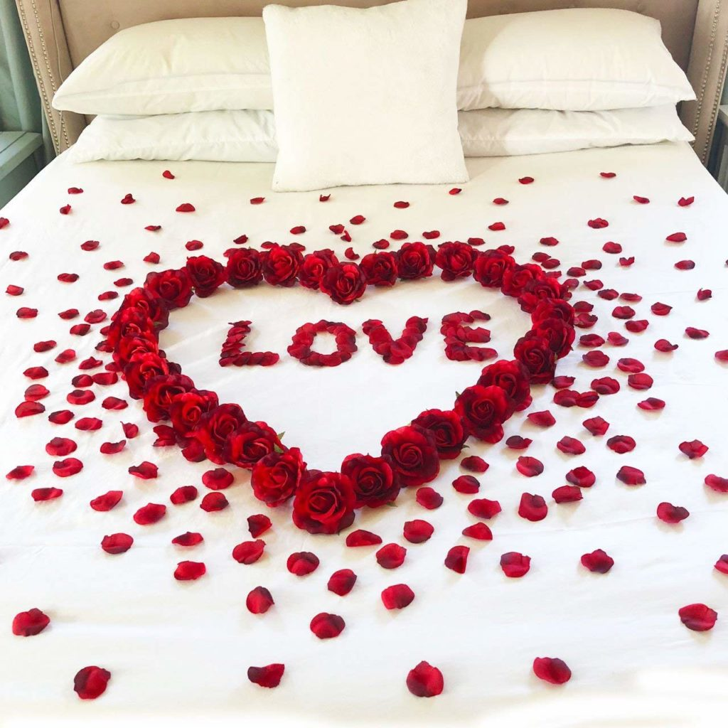 Red Roses & Petals & Love