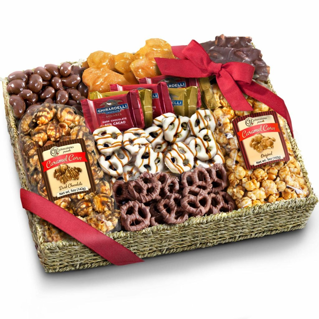 Chocolate Caramel and Crunch Grand Gift Basket for Christmas Holiday