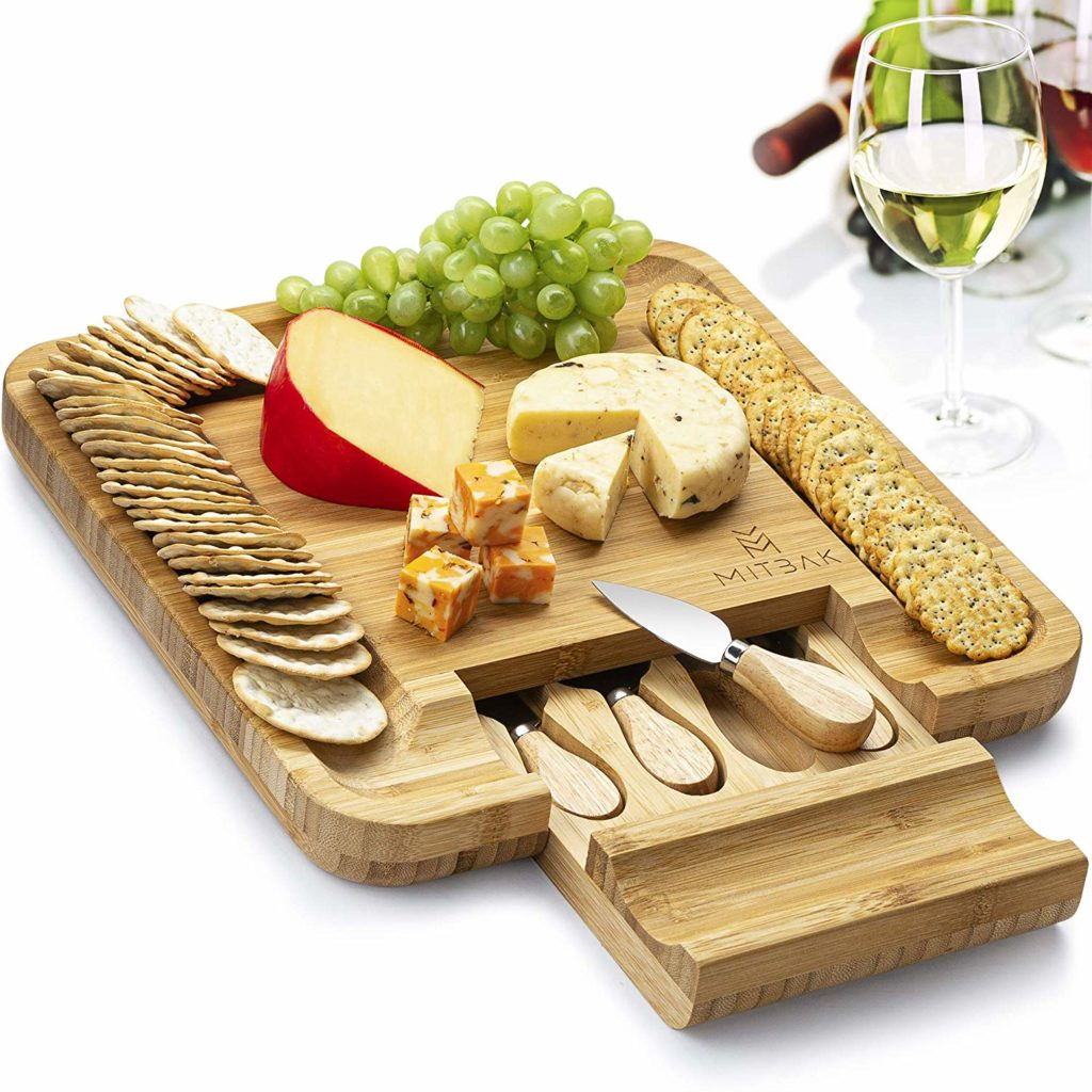Bamboo Charcuterie Board Serving Tray