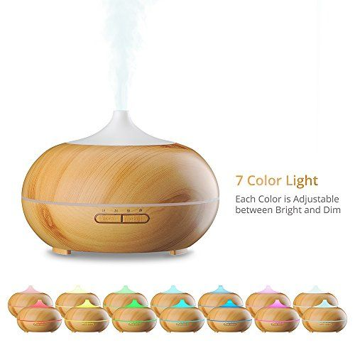 VicTsing Essential Oil Diffuser, 300ml Oil Diffuser with 7 Color Lights and 4 Timer