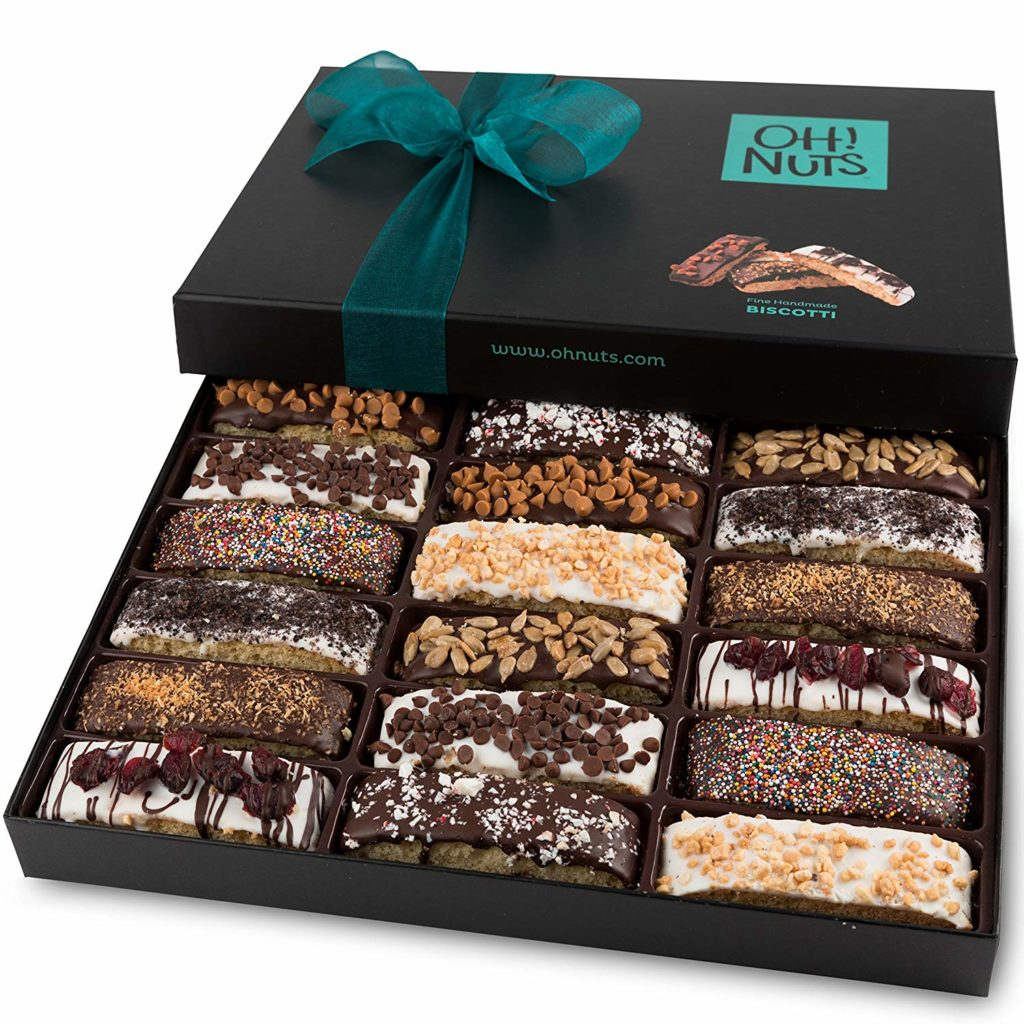 Delicious Biscotti Artfully Decorated 18 Count Gift Box