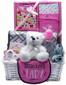 Nikki's New Arrival Baby Girl Gift Basket