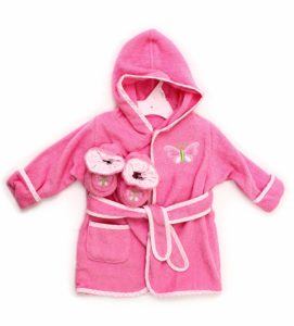 Spasilk 100% Cotton Hooded Terry Bathrobe with Booties