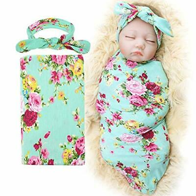1-3 Pack BQUBO Newborn Floral Receiving Blankets