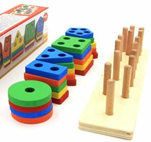 Revanak Wooden Educational Preschool Toddler Toys for 1 2 3 4 5 Year