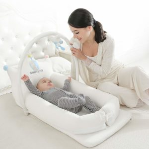 SUNVENO Portable Baby Bed Infant Lounger