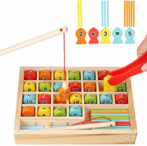 Wooden Magnetic Fishing Math Game