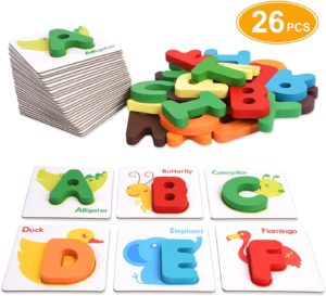 Alphabet Flash Cards, XREXS Toddler ABC Letters Learning Cards