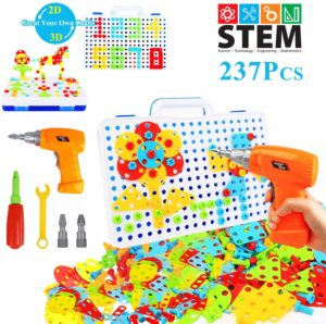 HAPTIME 237 Pieces Electric DIY Drill Educational Set