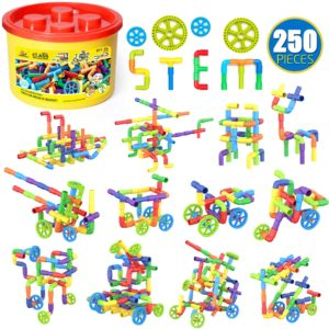 WishaLife 250 Pieces Tube Toys