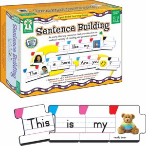 Carson Dellosa – Sentence Building Literacy Resource with 86 Cards for Language Arts For K