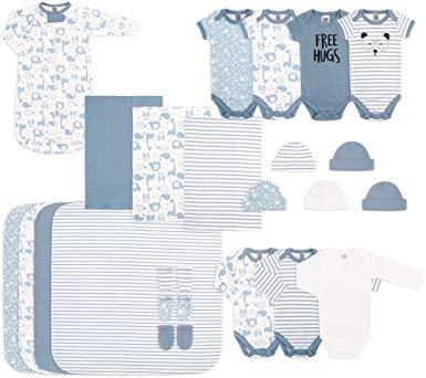The Peanutshell Newborn Essentials Layette Gift Set for Baby Boys