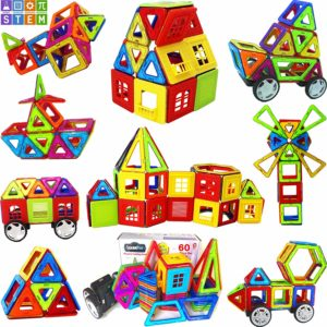 LearnFun 60 Piece StrongMagnetic Building Block Set