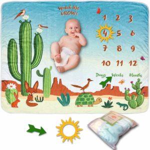 SnuggyBug Baby Monthly Milestone Blanket
